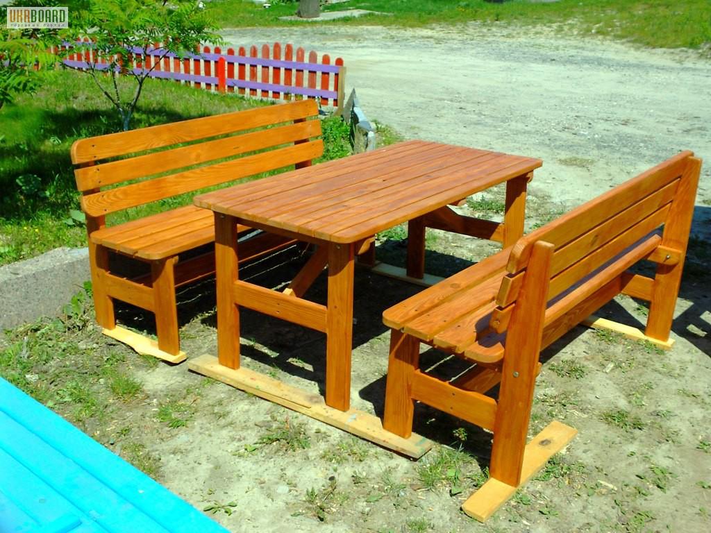 скамейки и столы для беседки своими руками