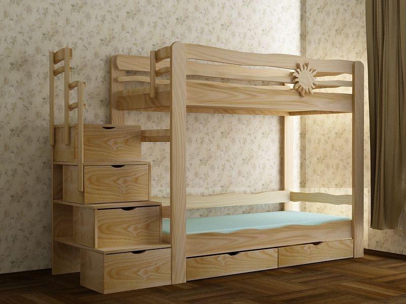 Двухъярусные детские кровати из дерева своими руками фото и 43