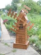 Схема мельницы для сада своими руками фото